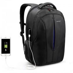 Рюкзак городской Tigernu T-B3105 USB черный с синим